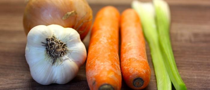 Gemüse für eine echte Bolognesesauce