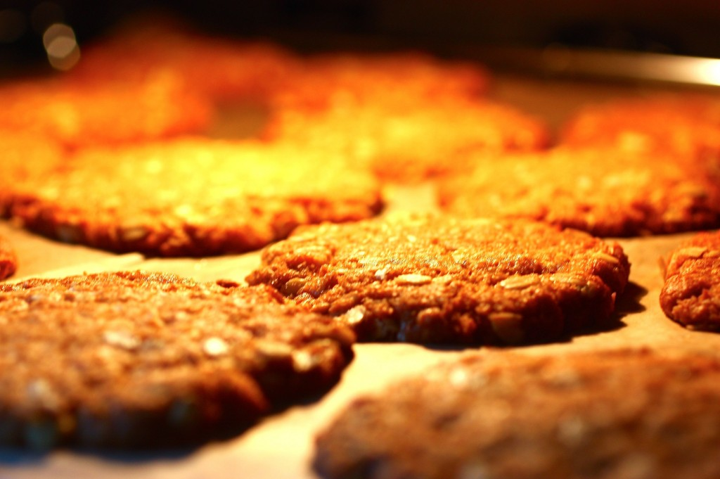 ANZAC Biscuits in den Ofen